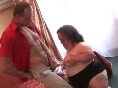 Ugly Mature BBW Midget Sucks Fucks plus Facialed